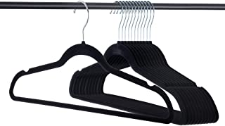 Home-it Premium Velvet Hangers Heavy duty Clothes Hook Swivel 360-Ultra Thin, 50 Pack