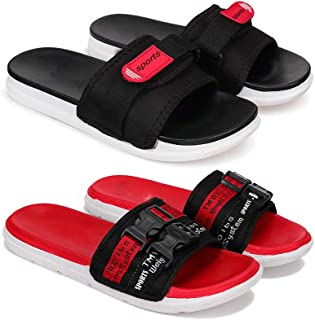 Bersache Fashion Perfect Washable Flip-Flop & Slipper, Slides Walking Slipper for Men Pack of 2
