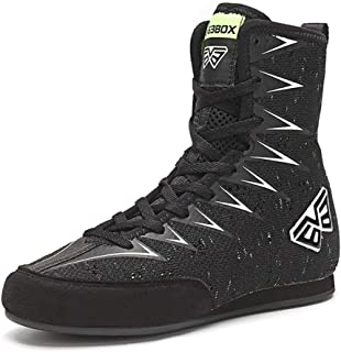 Kids' Boxing Shoes, Combat Training Boots High Top Breathable Wrestling Fitness Sneakers