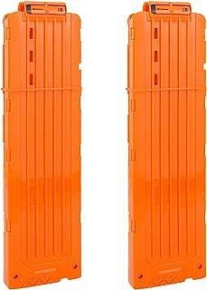 EKIND Soft Bullet Quick Reload 18 Darts Clips Compatible for Nerf N-Strike Elite Magazine Toy Gun (Orange, Pack of 2)