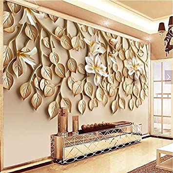 Buy Avikalp Exclusive Awz0354 3d Wallpaper Leaves Tv Background Wal Hd 3d Wallpaper 518cm X 304cm Online At Low Prices In India Amazon In