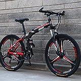 GASLIKE Bicicleta de montaña Plegable con Ruedas de 26 Pulgadas, suspensión...