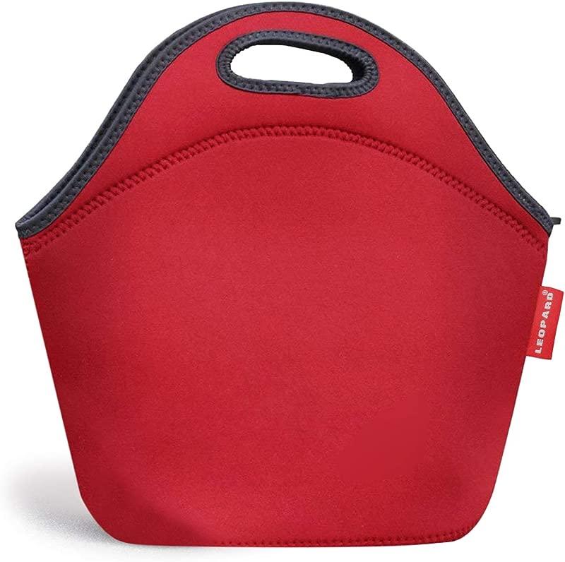 Leopard Outdoor Neoprene Lunch Bag For Men Women Kids