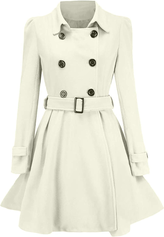 Cardigo Oversized Winter Coats for Womens Ladies Warm Buttons Woolen Trench Cute Jacket Belt Overcoat Fashion Outwear