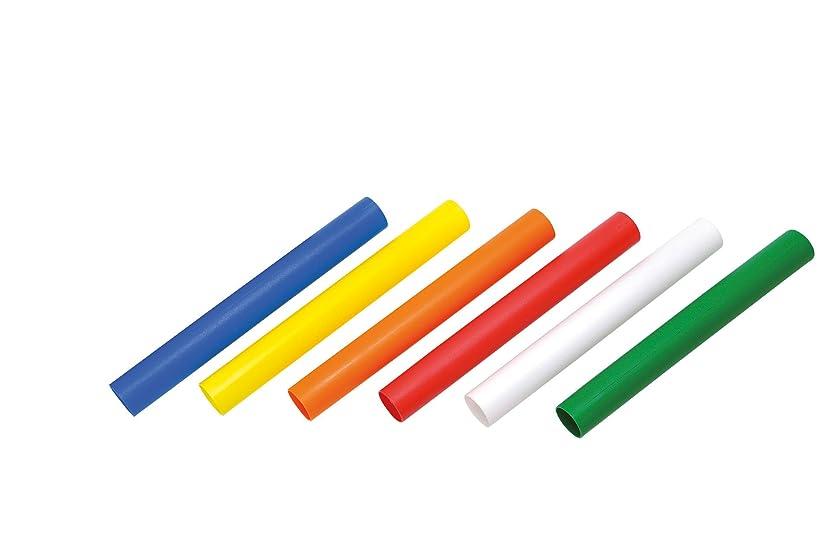 学士回復味付けTOEI LIGHT(トーエイライト) カラー6色プラバトン G1202 6色1組 収納ナイロンケース付 直径37mm×長さ約30cm