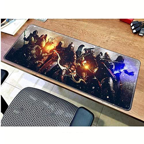 ASDFGH Gaming Mauspad groß XXL Gaming Mouse Pad The Elder Scrolls V Skyrim Große Mauspad Spiel-Tastatur Mat Erweiterte Mousepad for Computer PC-Mausunterlage (Color : E, Size : 800 * 300 * 3mm)