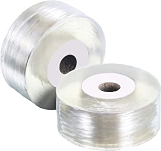 TecUnite 2 Roll Grafting Tape Stretchable Clear Floristry Film 1 Inch (Clear)