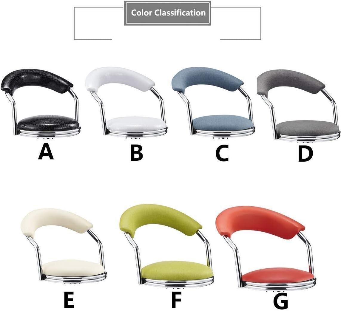 YUXO-COWER Tabouret de Bar Bar Chaise Haute Chaises Avec Dossier Rotation Ascenseur Bar Chaise Réglable Chaise À Dîner Rembourrés Debout Chaise (Color : C) B