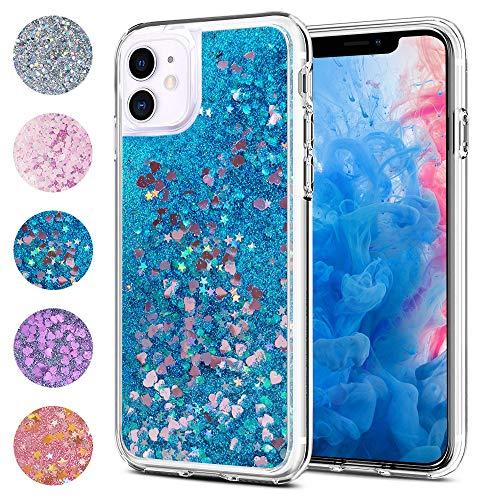 wsky Funda para iPhone 11 azul parpadeante teléfono móvil móvil móvil móvil móvil móvil móvil elegante y hermosa, funda especial para mujeres, transparente y suave iPhone 11 Case
