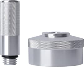 Yoursme Silver Aluminum Extended Run Gas Cap, Mess Free Oil Change Funnel for Honda Generator EU1000i EU2000i