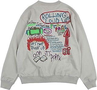 Rolling Loud LA Sweatshirt Hip Hop Rapper Graffiti Print Sweatshirts Crew Neck Cotton Sweatshirt Hoodies