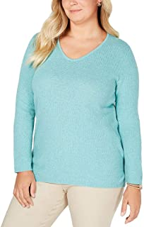 Karen Scott Plus Size Cotton Marled-Knit Tunic Top