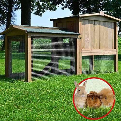 Stall 1 PL Kaninchenstall Hasenstall Kaninchenkäfig Hasenkäfig Meerschweinchenstall - 3