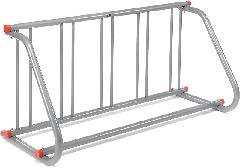 Global Industrial 61 5 8 L Grid Bike Rack Single Sided Powder Coated Galvanized Steel 5 Bike Capacity