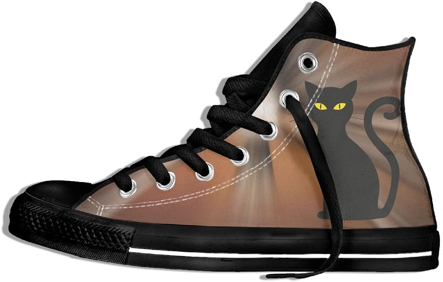 Black Cat Bring Luck Giant High Top Classic Casual Canvas Fashion shoes Sneakers For Women & Men