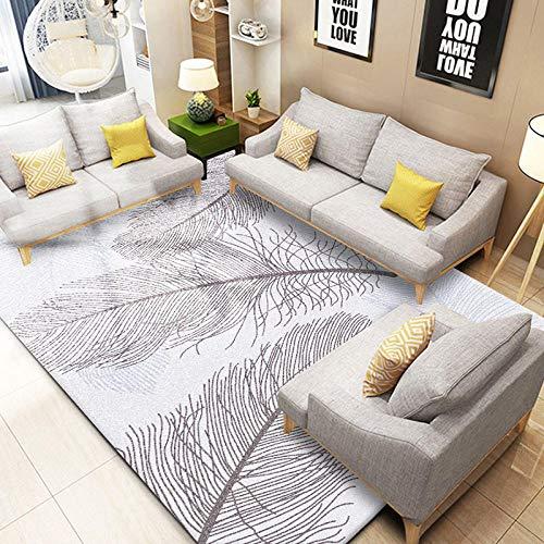 TANGYUAN Alfombra Shaggy Pelo Salón Precio Inmejorable - Accesorios para el hogar, alfombras, Plumas, Ligeros, exquisitos, Informales, Modernos y creativos, lavables-80cmx 120cm