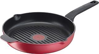Tefal Daily Chef Poêle grill 26 cm, Fonte d'aluminium, Rétention de chaleur, Facile à nettoyer, Revêtement antiadhésif, Th...