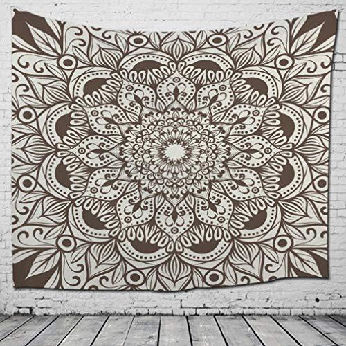 Nunubee Tapiz Mandala Indio Hippie Bohemio Oriental Tapiz Tapiz Tapiz de Pared Tapiz de Flores Estilo psicodélico Boho como una Colcha de Tela Decorativa(Patrón 8-200 * 150cm