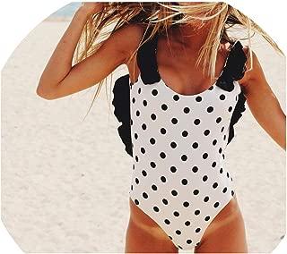 Sexy One Piece Swimsuit Women 2018 Summer Beachwear Lace One Shoulder Swimwears Bodysuit Monokini Swimsuit
