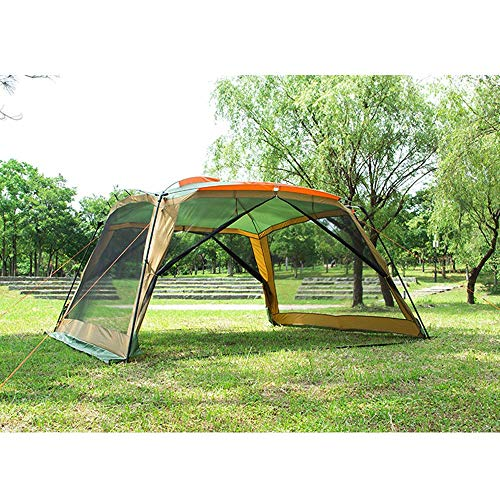 Generic Brands 3m Garden Tents and Gazebos,Party Tent Outdoor Gazebo with Mesh Sides Canopy Event Shelter Mosquito Netting Camping Tents Marquee,Yellow