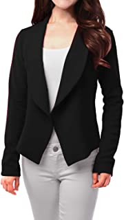 FASHIONOMIC Womens Light Weight Casual Work Office Open Front Blazer Cardigan Jacket Made in USA
