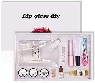 Reddhoon DIY Lip Gloss Making Kit, Make Your Own Lip Gloss, Lip Gloss Base Oil Material with Lip Polish Tube, Powder Pigme...