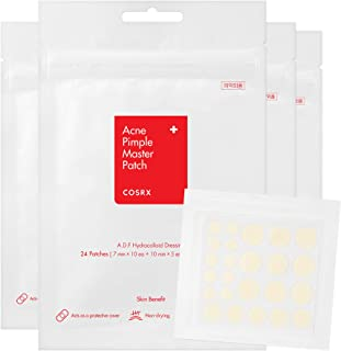 COSRX Acne Pimple Master Patch 96 Patches (4 Packs of 24 Patches) | A.D.F. Hydrocolloid Dressing | Quick & Easy Treatment