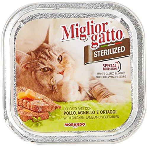 MigliorGatto Sterilized Vaschette pollo agnello e ortaggi 100 g