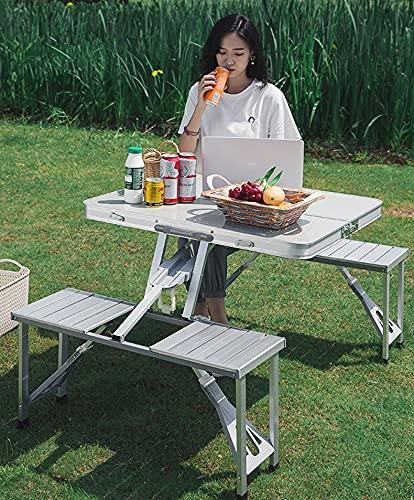 Aluminium Folding Portable Camping Picnic Table Stool Chair Set Garden Table set