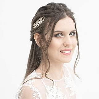 Zoestar Bridal Leaf Handband Fashion Headpiecefor Women (Silver)