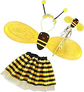 Semoic 4Pcバブルビー、ハニーガール子供のフェアリーハロウィンファンシー扮装パーティーコスチューム