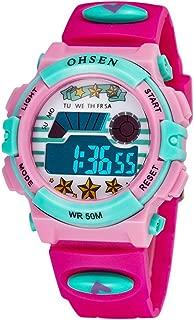 AUBIG Colorful Watch Outdoor Sports Boys Girls LED Digital Alarm Stopwatch Waterproof Student Wristwatch Dress Gift Watch