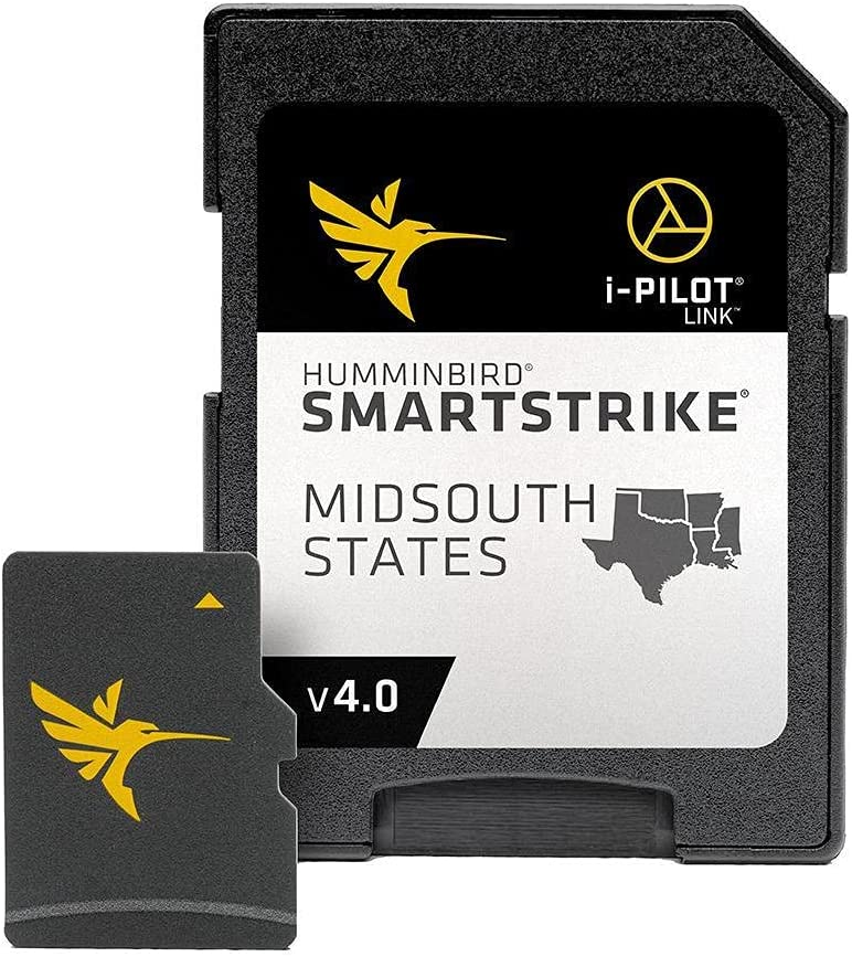 Humminbird 600037-4 SmartStrike Midsouth States V4 Digital GPS Maps Micro Card