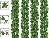 Bioc Pianta Artificiale Edera Rampicante Ghirlanda 24 Pezzi Pianta Artificiale Fiori Esterne per Festa di Matrimonio Decorazione Casa Parete Balcone Giardino