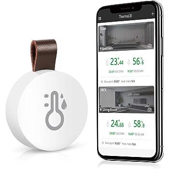 ORIA Kabelloses Bluetooth Thermometer Hygrometer, Innen Thermo-Hygrometer Mini mit Daten Export-funktion, kompatibel mit iPhone und Android für Wein, Zigarre,Wohnzimmer, Babyzimmer, Haus etc