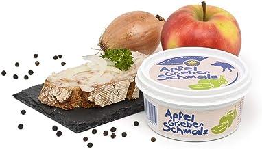 Apfel-Griebenschmalz 200g Becher - Schweineschmalz mit Äpfeln, Zwiebeln und Schweinegrieben - Schweinefett - Geschenkidee ...