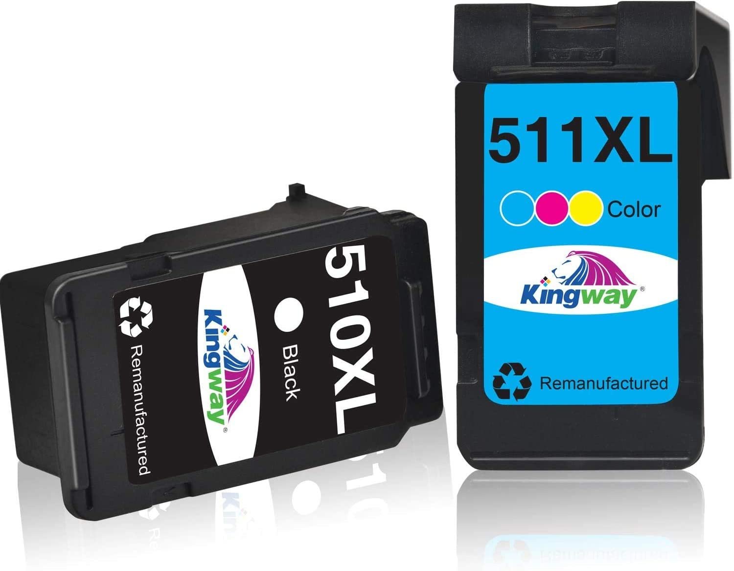 Kingway Remanufactured Pg 510 Cl 511 Replacement For Canon 510 And 511 Canon Pg 510 Cl 511 Printer Cartridges For Mp270 Mp230 Mp250 Ip2700 Mp280 Mp230 Mx320 Mx360 Mx410 Mx490 Mx495 1 Black 1