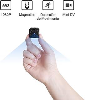 Mini Espía Cámara AOBO Oculta HD 1080P Cámara Inalámbrica Portátil Interior con Detección de Movimiento Cámara de Niñeras Seguridad para el Hogar Oficina Coche Casa