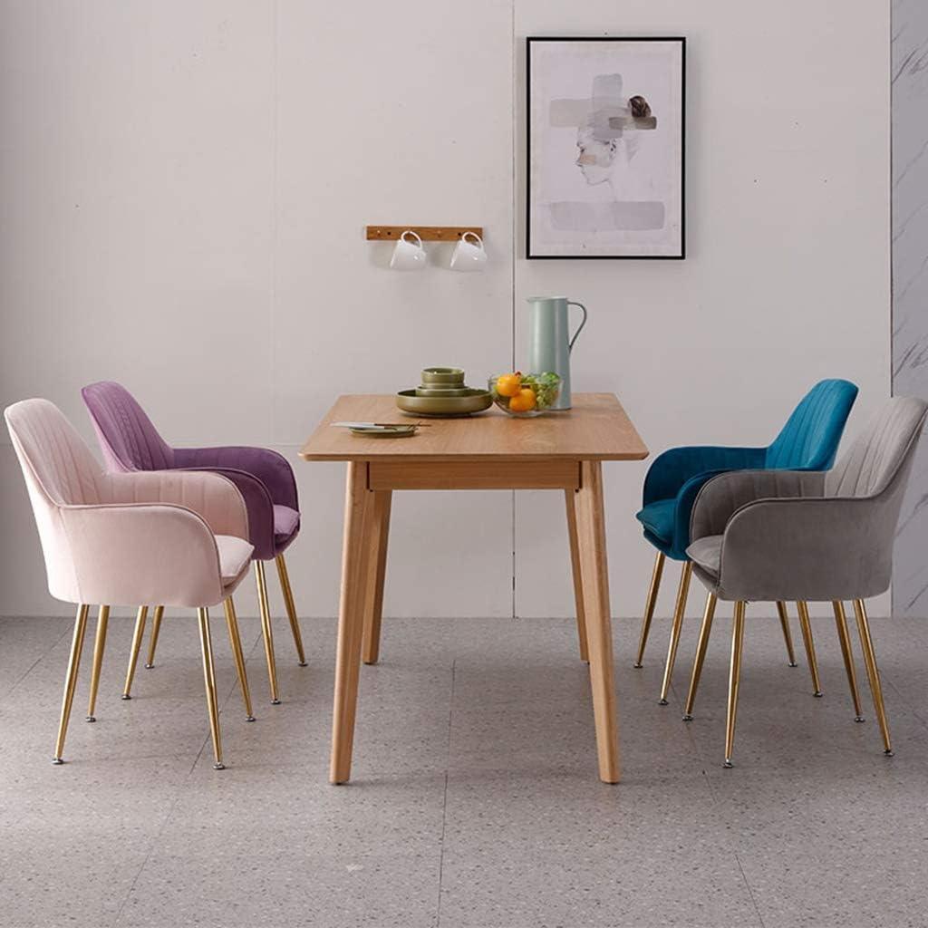 LSRRYD Chaises Velours Scandinaves Chaises Salle Manger En Tissu Velours, Chaises Cuisine Solide Avec Des Pieds En Métal (Color : Purple-A) Blue-a