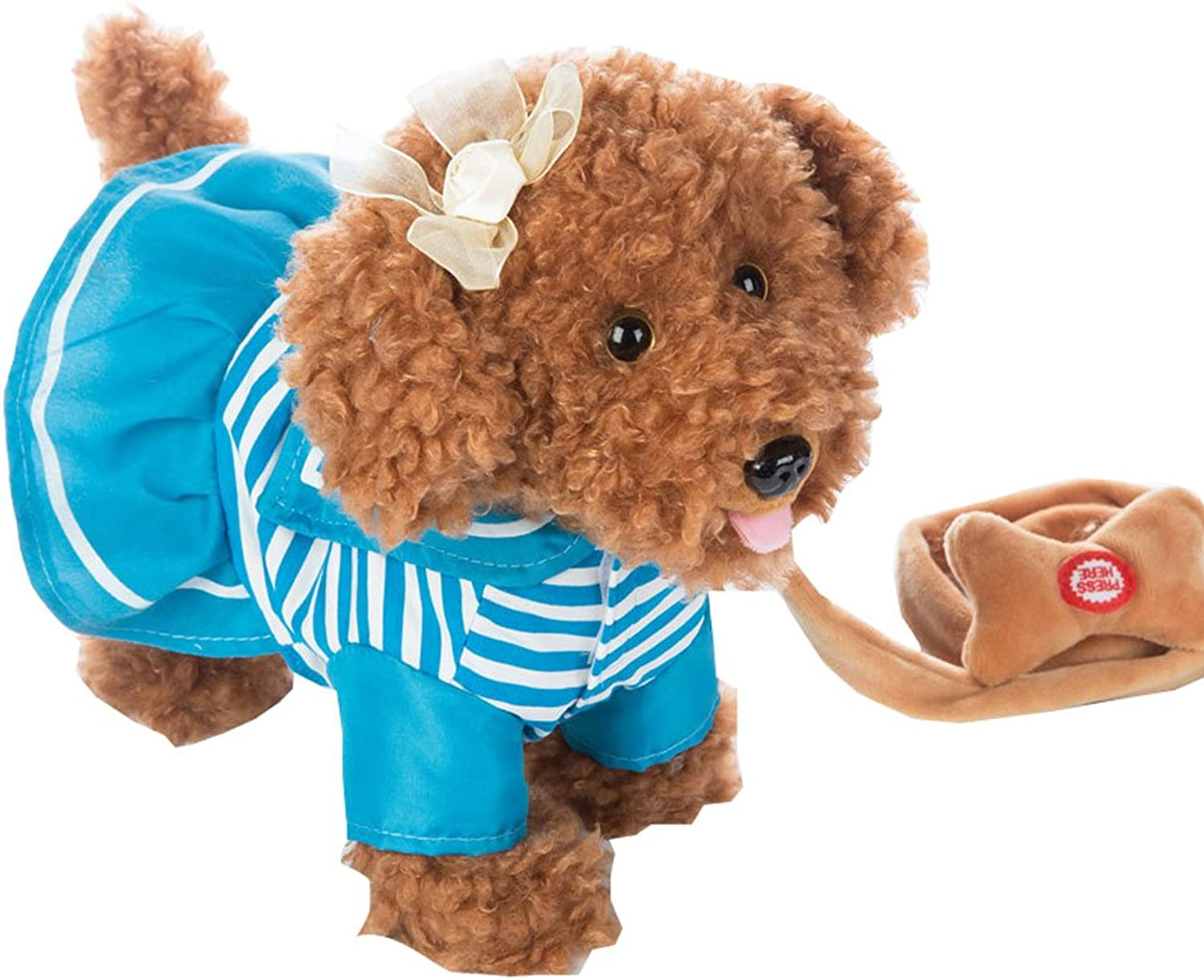 Walk Along Toy Plush Dog Dancing & Walking Actions Music
