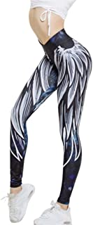Sports Pants, Auwer Womens Wing Printed Yoga Skinny Workout Leggings Fitness Sports Cropped Pants (M, Blue)