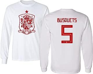 Spain 2018 National Soccer #5 Sergio BUSQUETS World Championship Men's Long Sleeve T-Shirt