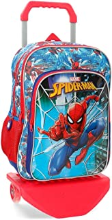 Mochila doble compartimento con carro Spiderman Street