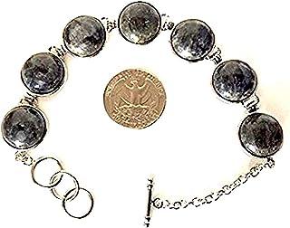 Labradorite Bracelet mens Bracelet wrist bracelet - Approx. 15 mm Round labradorite Gemstone Beads - Adjustable Bracelet -...