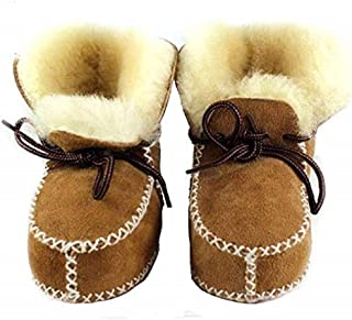 Sheepskin Fleece Baby Bootie- Infants Warm Fur Wool Girls Baby Plush Boots Leather Boy Shoes