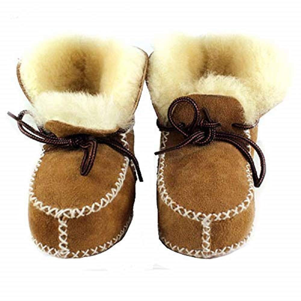 CooL BeanS Boys//Girls Sheepskin Winter Snow Boots Baby//Toddler//Little Kids Genuine Leather//Fur