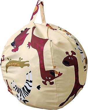 DELITLS Housse de pouf de rangement pour animaux en peluche - Organiseur de jouets pour la maison - Décoration d'intérieu