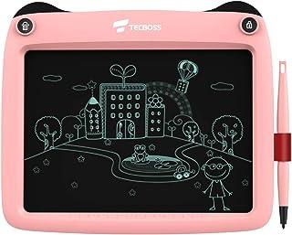 Tecboss 液晶ディスプレイライティングタブレット 9インチ 液晶ディスプレイ画面ロック タッチペン 落書き&スケッチボード 子供と大人用 自宅 学校 オフィス ピンク