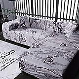 PPMP Funda de sofá geométrica Flexible para Sala de Estar Funda de sofá con Todo Incluido combinación de sofá Modular de Esquina en Forma de L A11 1 Plaza