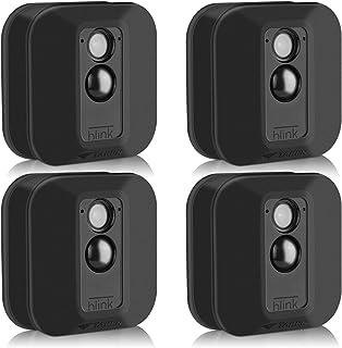 Silikon Schutzhüllen für Blink XT/XT2 Sicherheitskamera, Silikon Hülle für Blinken, Heimsicherheit, Anti Kratz Schutz für vollen Schutz, für Innen  und Außenbereich, 4 Stück, Schwarz